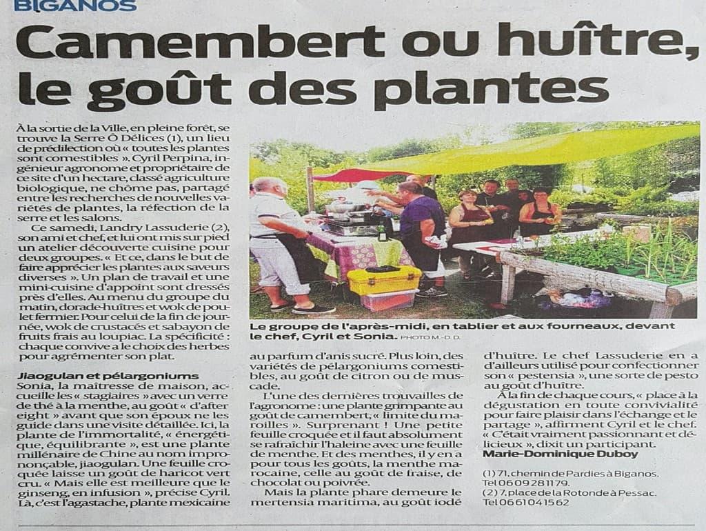 Dossier de presse la serre d lices hu tres v g tales - Editions sud ouest cuisine ...